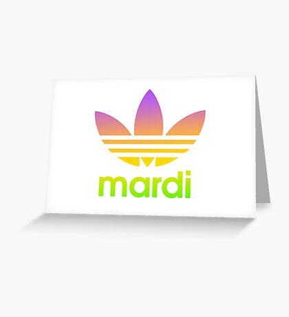 Mardi Greeting Card