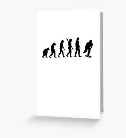 Human evolution of skating Greeting Card