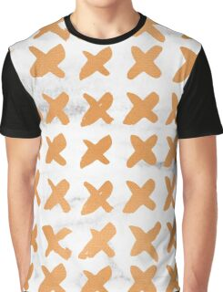 Valentines Day - Bronze Copper Gold Marble X Pattern Graphic T-Shirt