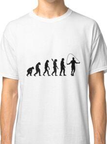Human evolution of skipping Classic T-Shirt