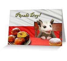 Paczki Day Opossum Greeting Card