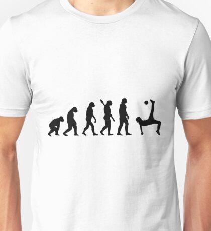 Human evolution of soccer man Unisex T-Shirt