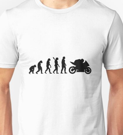 Human evolution of biker man Unisex T-Shirt
