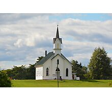 Country Church in Holmes County, Ohio Photographic Print