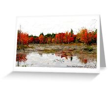 Fall in Northern Ontario Greeting Card
