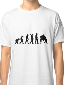 Human evolution of sumo wrestler Classic T-Shirt