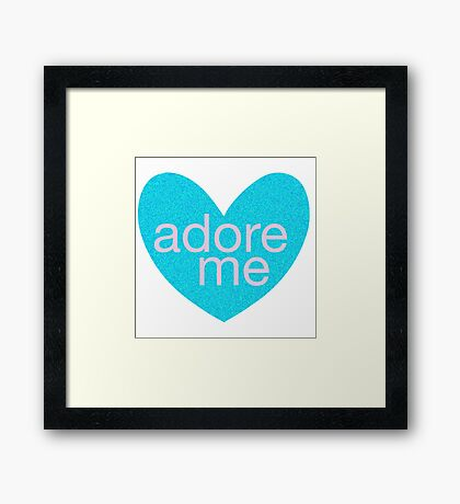 Adore Me in Hearts Framed Print
