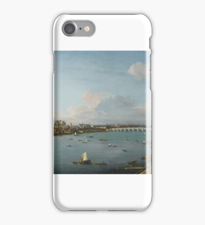 Antonio Joli LONDON, A VIEW OF THE CITY OF WESTMINSTER OVER THE RIVER THAMES FROM LAMBETH iPhone Case/Skin