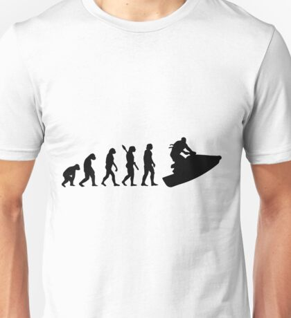 Human evolution of boating man Unisex T-Shirt