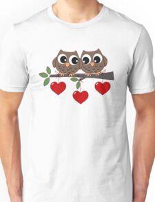 2 Owls My Valentine Day Unisex T-Shirt