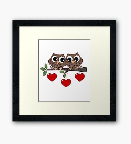 2 Owls My Valentine Day Framed Print