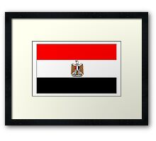 Egypt Flag Framed Print