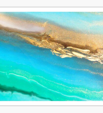 OPAL High flow acrylic fluid art detail  Sticker