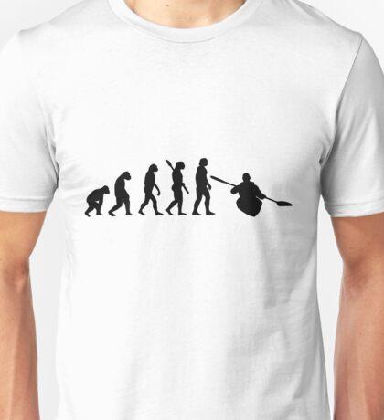 Human evolution of rafting man Unisex T-Shirt