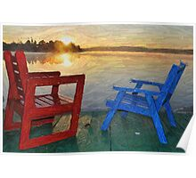 Cottage chairs Poster