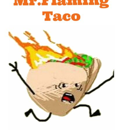 Flaming Taco  Sticker
