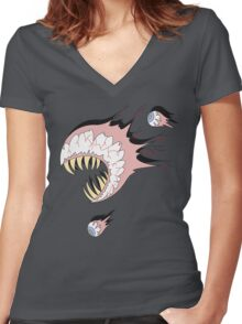 Eye of Cthulhu Women's Fitted V-Neck T-Shirt