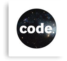 Code. Canvas Print