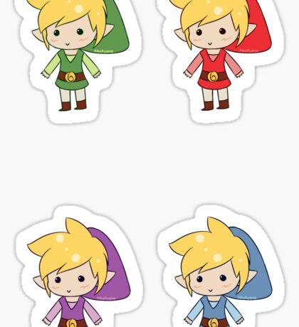 Four Chibi Links Sticker
