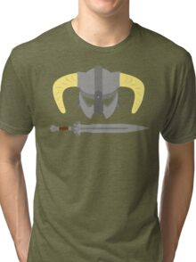 Iron helmet & imperial sword Tri-blend T-Shirt