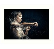 Experiment with water and studio lights Art Print