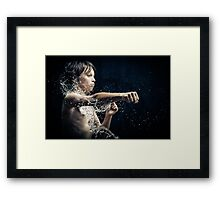 Experiment with water and studio lights Framed Print