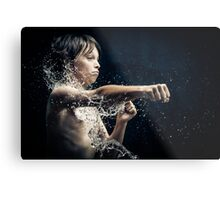 Experiment with water and studio lights Metal Print
