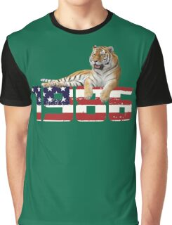 Vintage 1986 T Shirt-Funny American Flag Gifts Graphic T-Shirt