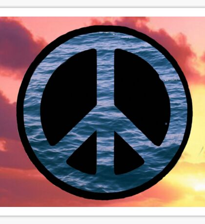 Peace on the water Sticker