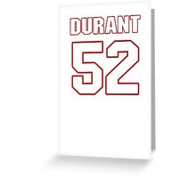 NFL Player Justin Durant fiftytwo 52 Greeting Card
