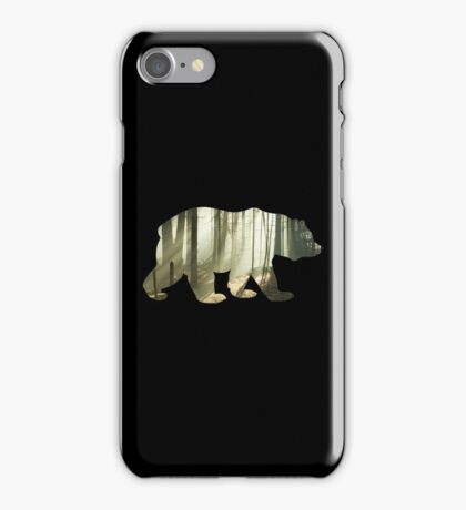 Bear in the mountains iPhone Case/Skin