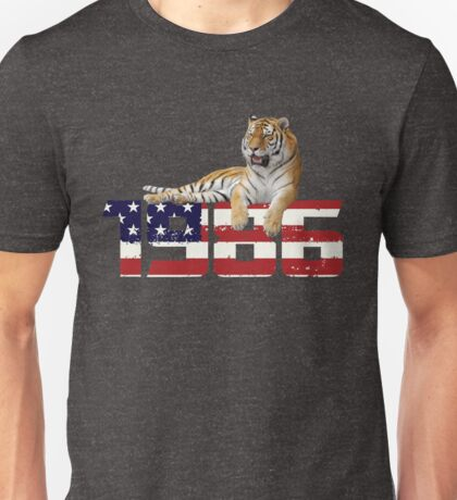 Vintage 1986 T Shirt-Funny American Flag Gifts Unisex T-Shirt