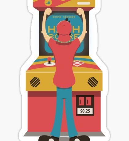 High Score - Classic Arcade Game Sticker