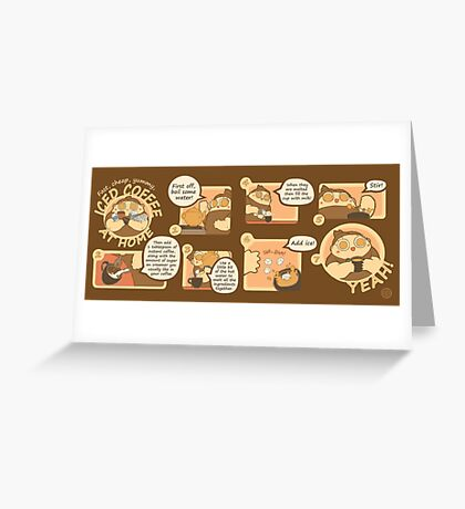 Cheap Iced Coffee Recipe Greeting Card