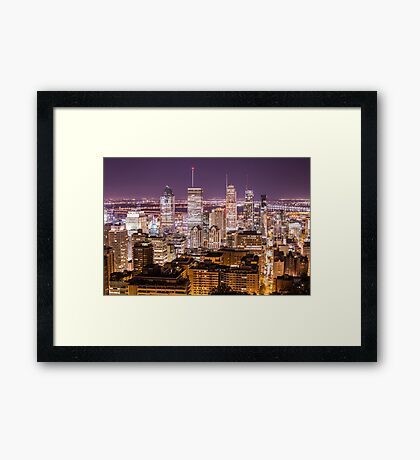 Montreal downtown  Framed Print