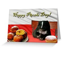 Paczki Day Skunk Greeting Card