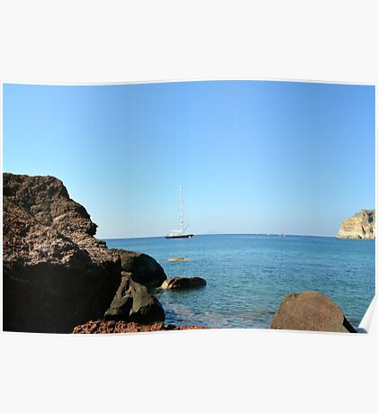 30 September 2016 The Red Beach on the Greek Island of Santorini Poster