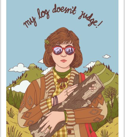 Log Lady (Twin Peaks) Sticker