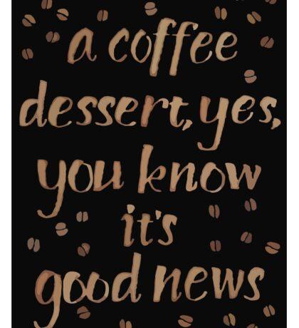 Coffee dessert Sticker