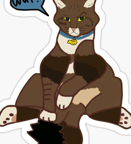 Cat Sit Sticker
