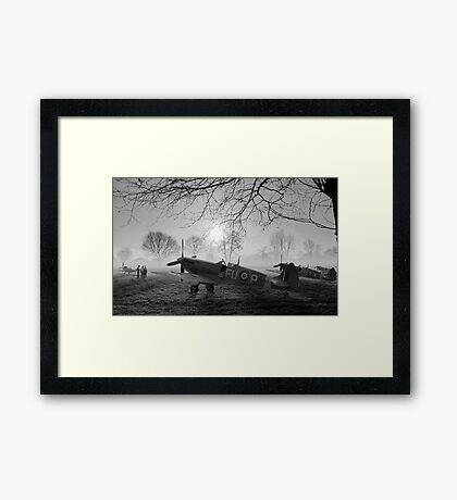 The Day Begins - BW Framed Print