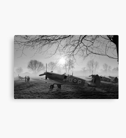 The Day Begins - BW Canvas Print