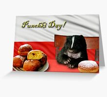 Punchki Day Skunk Greeting Card