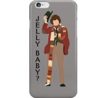 Doctor Who Tom Baker Jelly Baby minimalist iPhone Case/Skin