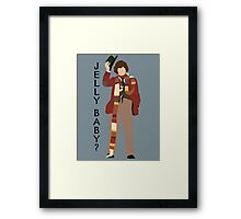 Doctor Who Tom Baker Jelly Baby minimalist Framed Print
