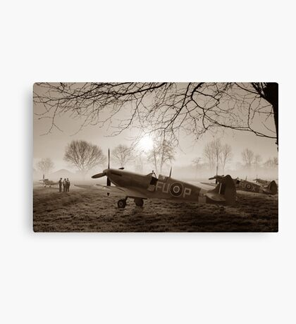 The Day Begins - Sepia Canvas Print
