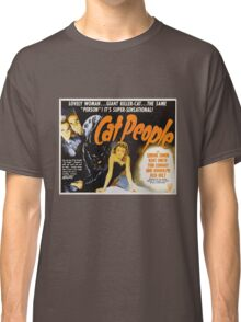 Cat People (1942) - Vintage Movie Poster Classic T-Shirt