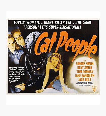 Cat People (1942) - Vintage Movie Poster Photographic Print