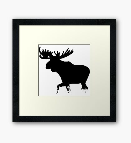Moose walking on glass- moose t shirt Framed Print