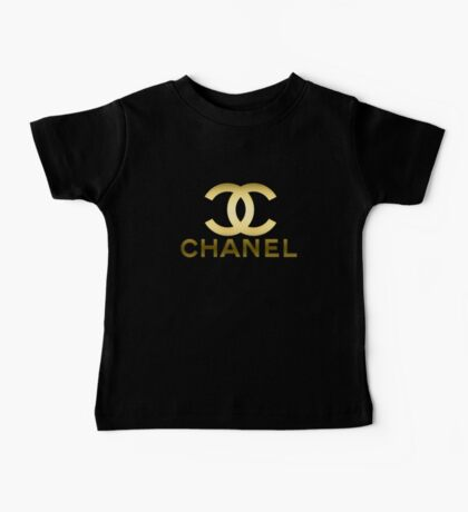 chanel gold Baby Tee